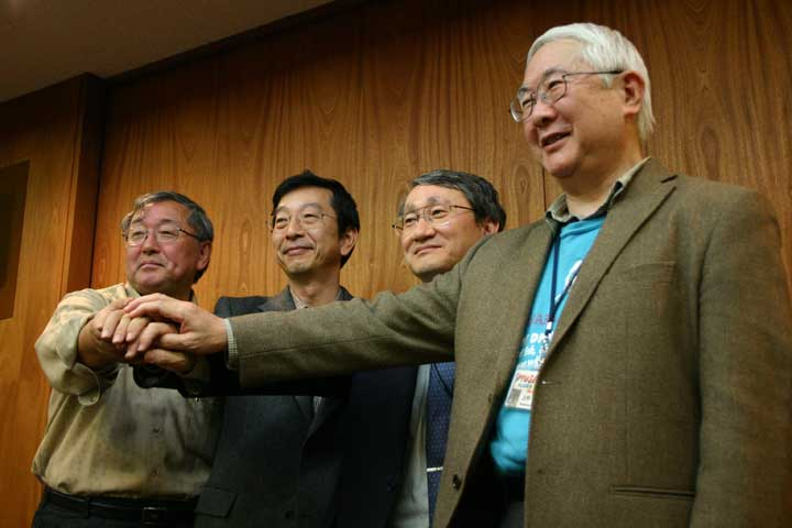 Four Scientists, Photo from Matsuura san's blog